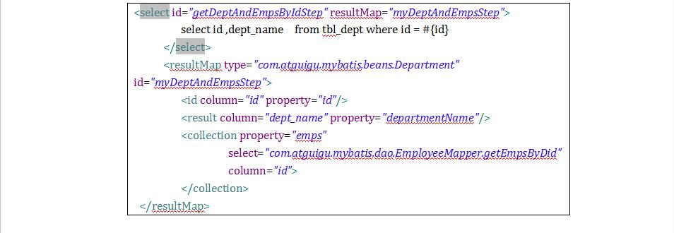 MyBatis框架第4章MyBatis 映射文件